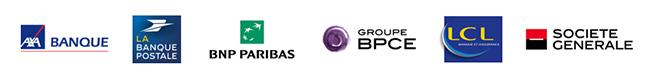 Logos partenaires bancaires