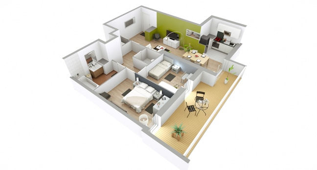 Plan 3d et configurateur nexity for Appartement 3d gratuit
